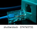 twisted pair  patch cord  blue... | Shutterstock . vector #374765731