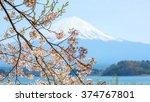 fujisan view from kawaguchiko...   Shutterstock . vector #374767801
