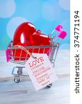 love for sale concept with red... | Shutterstock . vector #374771194