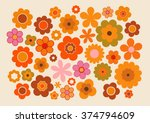 vintage flowers | Shutterstock .eps vector #374794609
