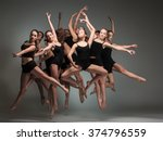 the group of modern ballet... | Shutterstock . vector #374796559