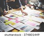 business people meeting design... | Shutterstock . vector #374801449