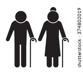 elder people icon illustration... | Shutterstock .eps vector #374802019