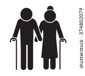 elder people icon illustration...