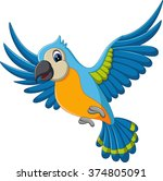 illustration of cartoon macaw... | Shutterstock . vector #374805091