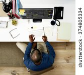 businessman working office...   Shutterstock . vector #374805334