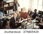 cooperation corporate... | Shutterstock . vector #374805424