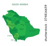 saudi arabia regions with names ... | Shutterstock .eps vector #374816659