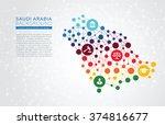 saudi arabia dotted vector... | Shutterstock .eps vector #374816677