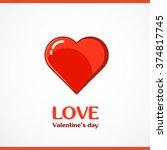 vector heart shape symbol design | Shutterstock .eps vector #374817745