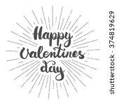 hand lettering calligraphic... | Shutterstock . vector #374819629