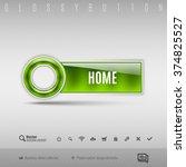 green modern plastic button... | Shutterstock .eps vector #374825527