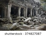 Ruins Of Ta Prohm Temple At...