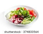 Fresh Vegetables Plate