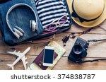 clothing traveler's passport ... | Shutterstock . vector #374838787
