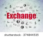 currency concept  exchange on... | Shutterstock . vector #374844535