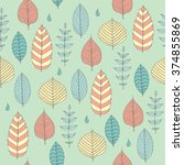 vector seamless pattern in soft ... | Shutterstock .eps vector #374855869