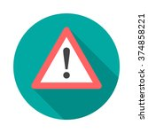attention sign icon with long... | Shutterstock .eps vector #374858221