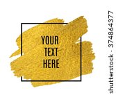 vector gold paint stroke with... | Shutterstock .eps vector #374864377