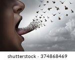 communication concept a a... | Shutterstock . vector #374868469