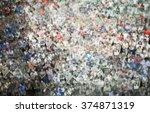 people unrecognizable ... | Shutterstock . vector #374871319