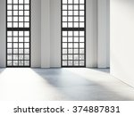 white modern empty space with... | Shutterstock . vector #374887831