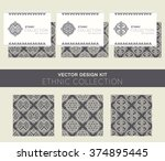 vector seamless pattern with... | Shutterstock .eps vector #374895445