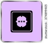 socket icon  black vector... | Shutterstock .eps vector #374899405