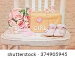 baby shower decoration | Shutterstock . vector #374905945