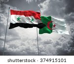 syria   algeria flags are... | Shutterstock . vector #374915101