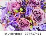 Bride Bouquet Of Purple Flower...