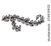 nature pattern design element... | Shutterstock .eps vector #374919925