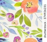 seamless hand illustrated...   Shutterstock . vector #374926231