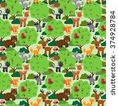seamless  tileable forest... | Shutterstock .eps vector #374928784