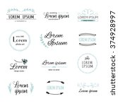 hand drawn logo templates... | Shutterstock .eps vector #374928997