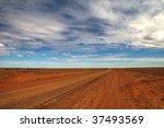 Outback Track Near Birdsville ...