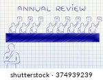 annual review  judges showing... | Shutterstock . vector #374939239