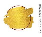 vector gold paint brush stroke... | Shutterstock .eps vector #374947909