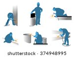 vector illustration of a... | Shutterstock .eps vector #374948995