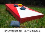 Cornhole Toss Game Board Close...