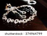 elegant luxury bridal earrings... | Shutterstock . vector #374964799