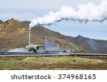 geothermal power plant | Shutterstock . vector #374968165