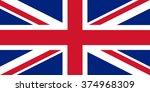 u.k. flag.  | Shutterstock . vector #374968309