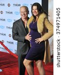 "Small photo of LOS ANGELES, CA - NOVEMBER 4, 2013: Neal McDonough & wife Ruve McDonough at the US premiere of ""Thor: The Dark World"" at the El Capitan Theatre, Hollywood. Picture: Paul Smith / Featureflash"