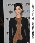 "Small photo of LOS ANGELES, CA - NOVEMBER 4, 2013: Jaimie Alexander at the US premiere of her movie ""Thor: The Dark World"" at the El Capitan Theatre, Hollywood. Picture: Paul Smith / Featureflash"