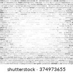 abstract program listing with... | Shutterstock .eps vector #374973655