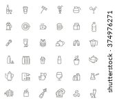 outline web icon set   drink ... | Shutterstock .eps vector #374976271