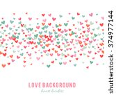 romantic pink and blue heart... | Shutterstock .eps vector #374977144