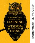 knowledge comes from learning.... | Shutterstock .eps vector #374977819