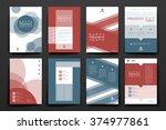 set of brochure  poster design...   Shutterstock .eps vector #374977861